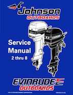 1998 Johnson Evinrude Ec 2 Thru 8 Service Manual P N