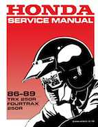 1986-1989 Honda TRX250 FourTrax 250R Service Manual