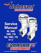 105HP 1998 J105WEXV Johnson outboard motor Service Manual